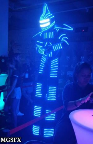 Dancer Costume LED Robot Suit